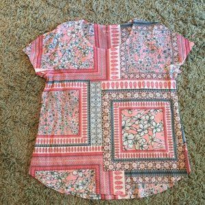 Style & Co fancy t-shirt, nicely shaped sz XL